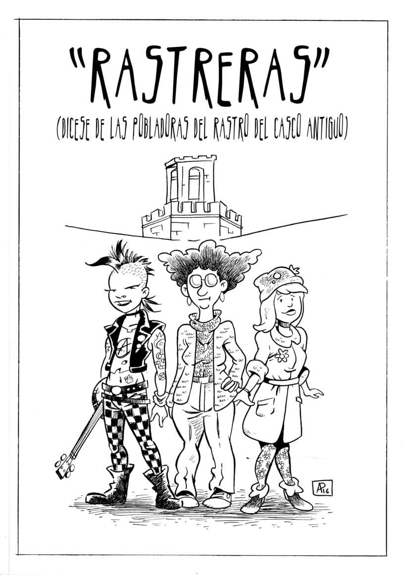 """Rastreras"" (cómic para revista Barrantes) -1"