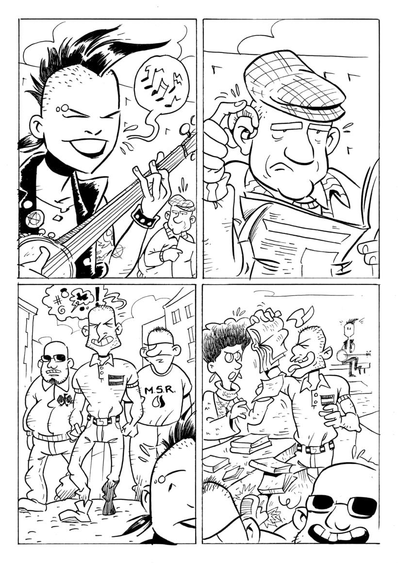 """Rastreras"" (cómic para revista Barrantes) 1"
