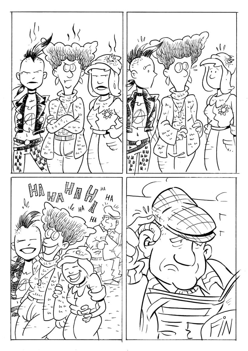 """Rastreras"" (cómic para revista Barrantes) 4"