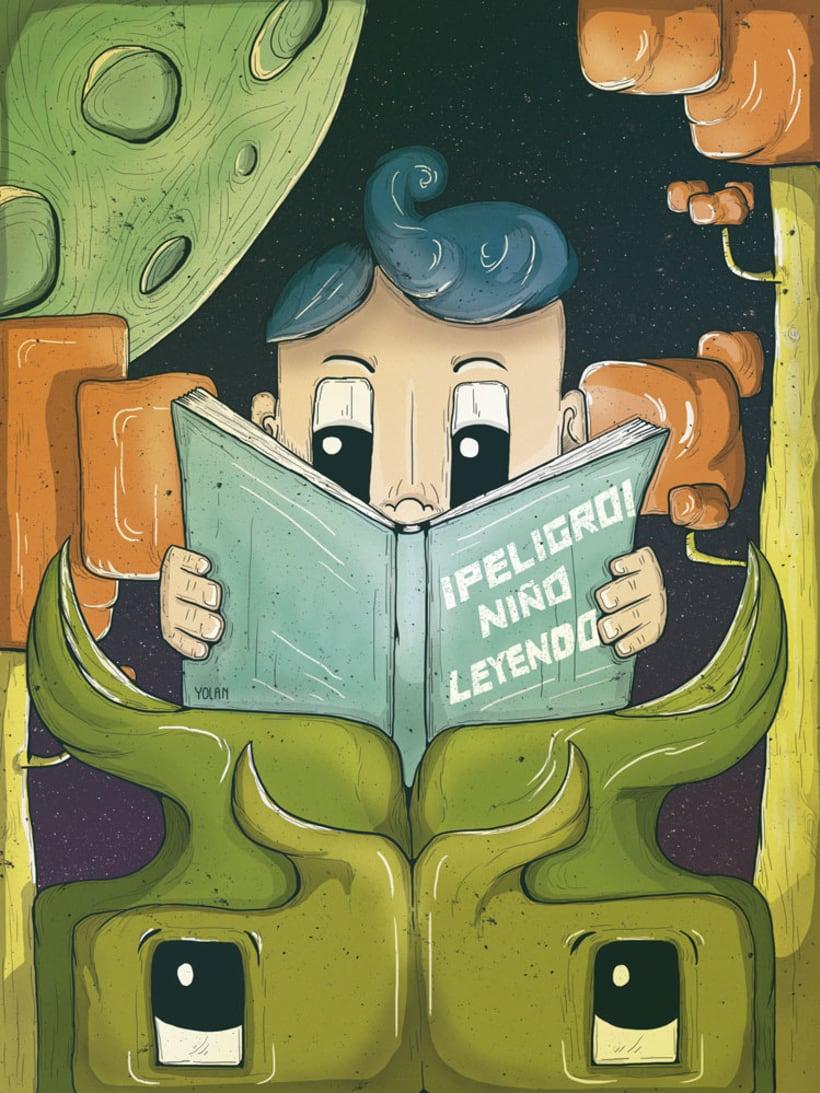 ¡Peligro, niño leyendo! -1