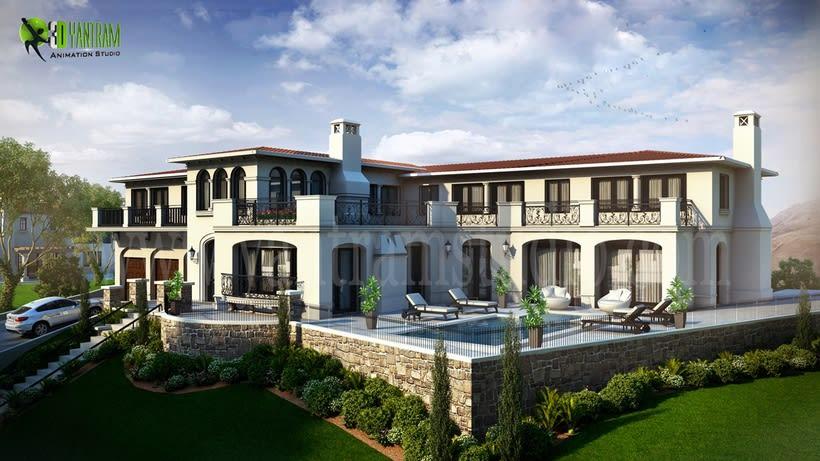 3D Arquitectónico del Exterior de 6