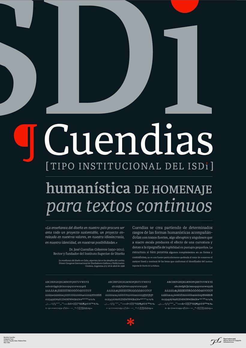 Cuendias. Tipografía institucional del ISDi 0