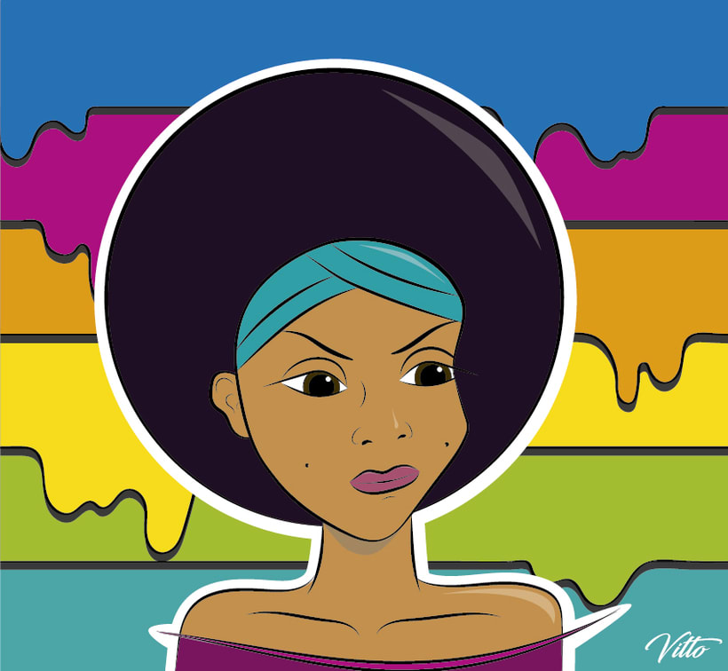 Afro color -1