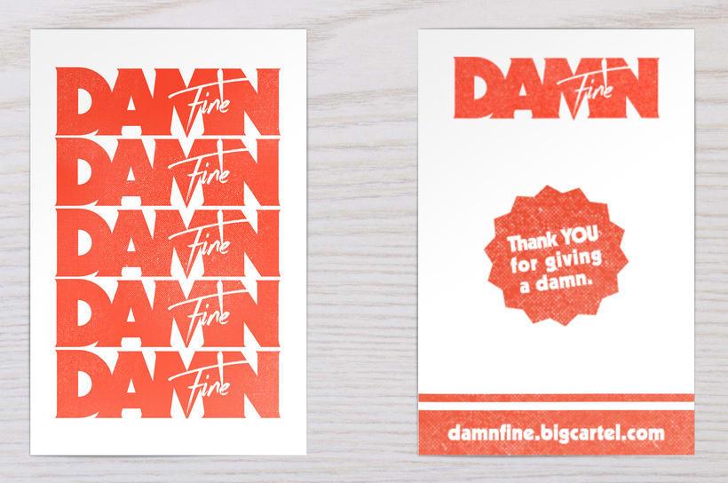 Damn Fine - Identidad y logo 1