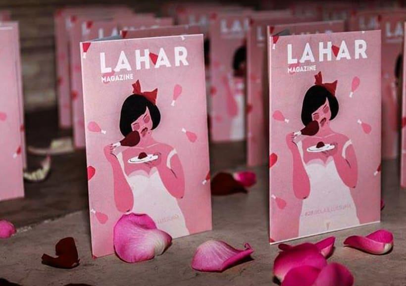 Ilustraciones para Lahar Magazine, Italia. 2