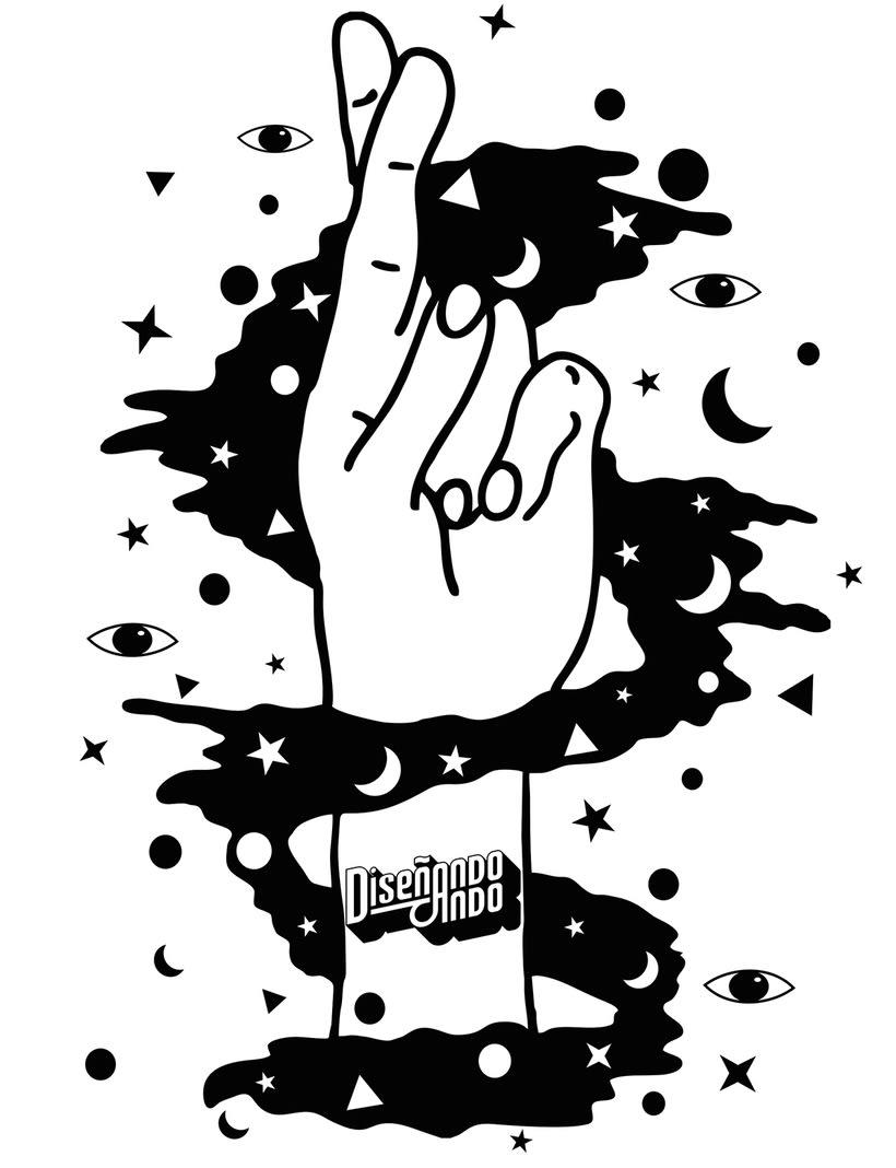 Universo Cósmico, Ilustración + Serigrafía 0
