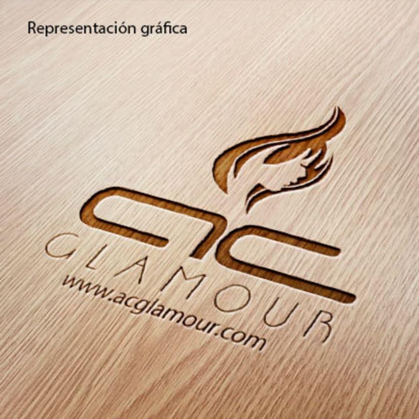 Logo identidad AC Glamour 3