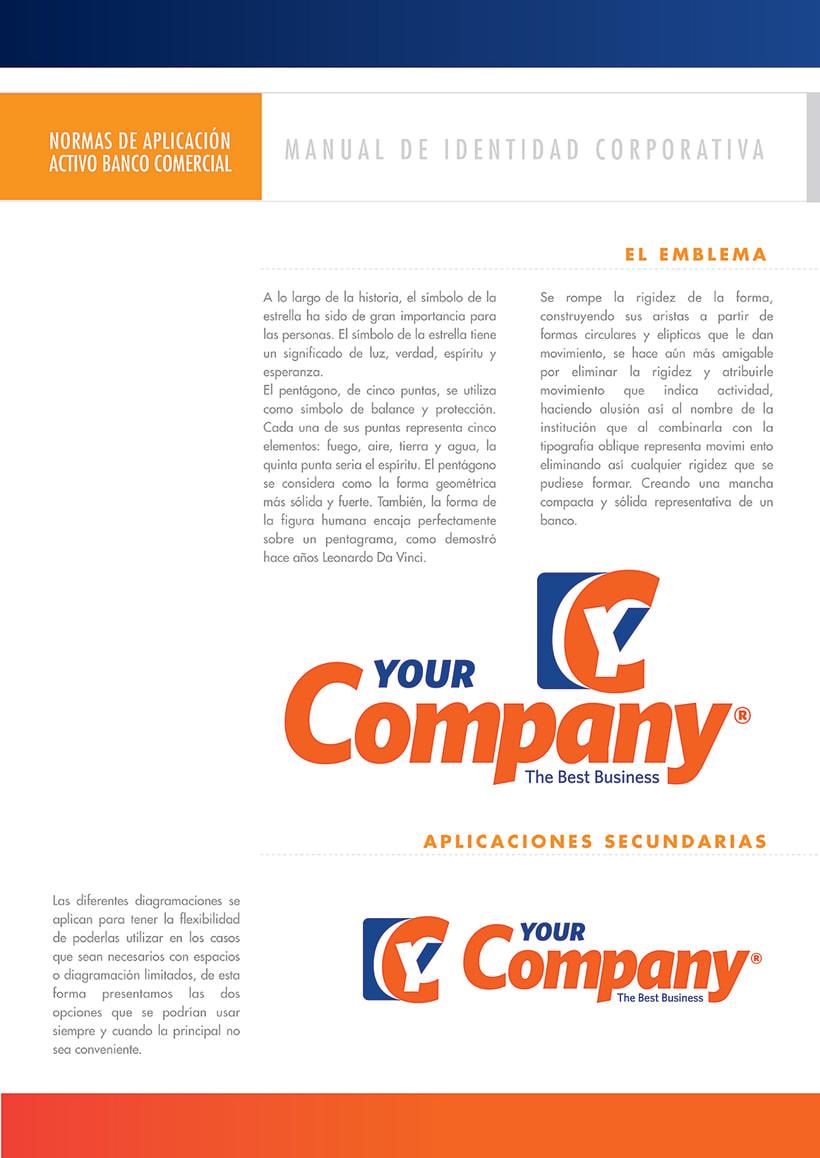 Manual de Identidad - Your Company - Marca para Banca Empresarial 1