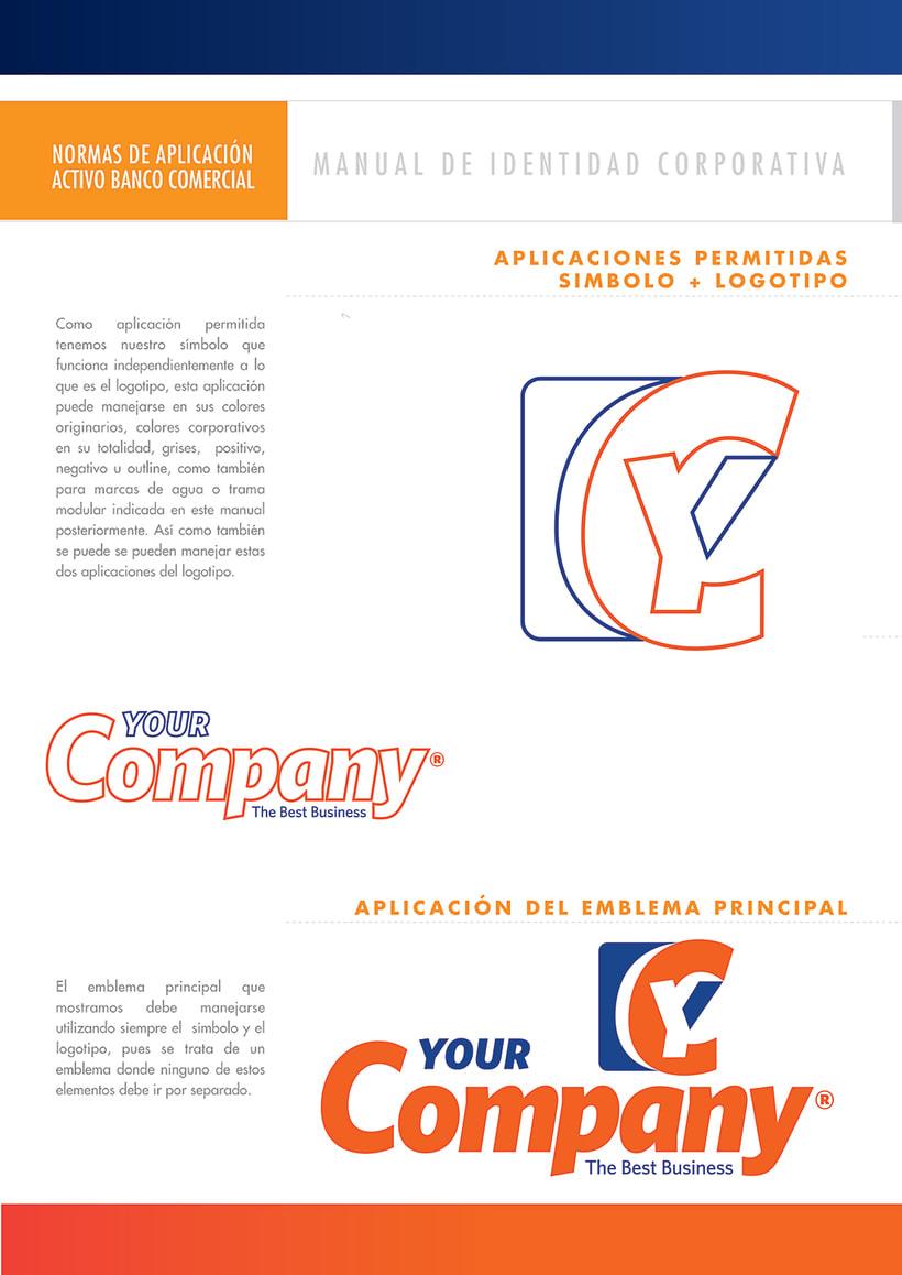 Manual de Identidad - Your Company - Marca para Banca Empresarial 2