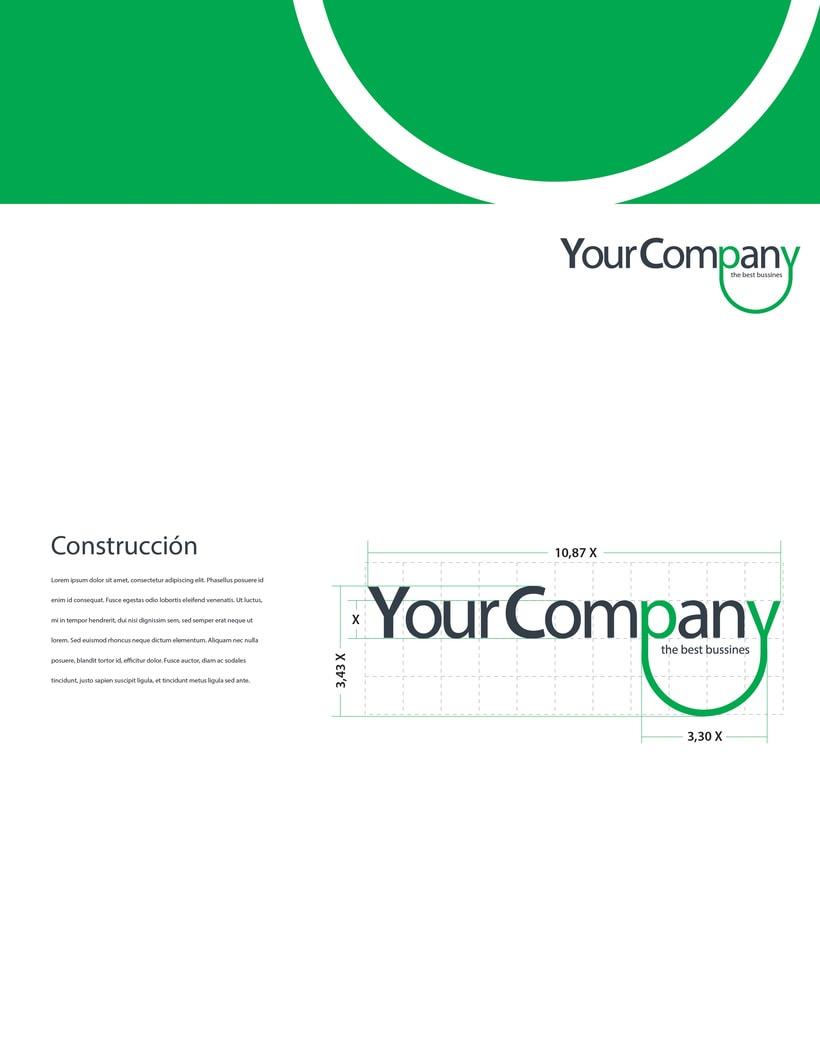 Manual de Identidad - Your Company - Marca para Banca Empresarial 19