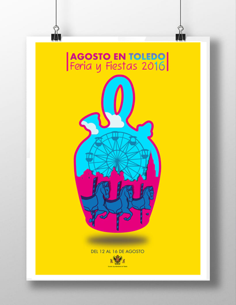 Boceto cartel Fiestas de Toledo 2016 0