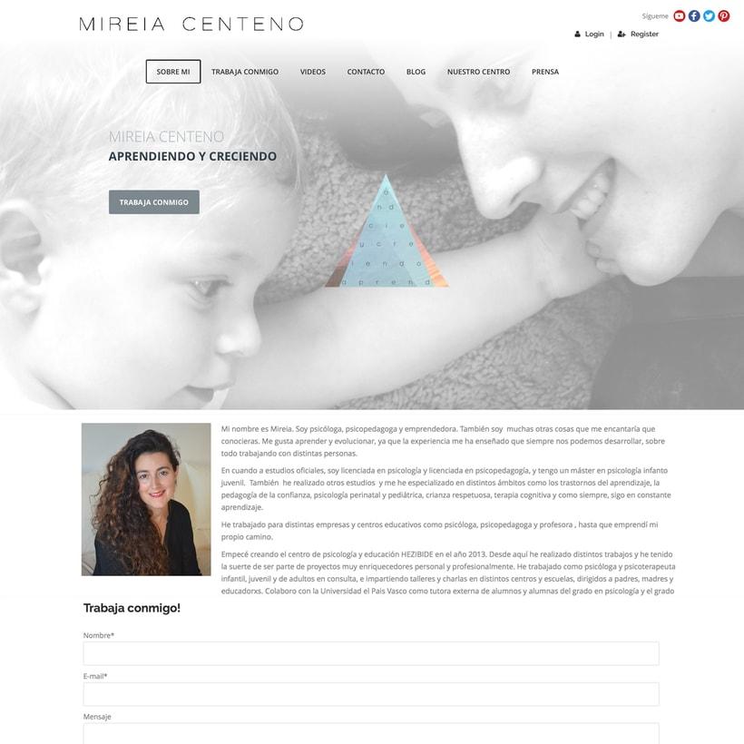 Web para Youtuber Mireia Centeno 1