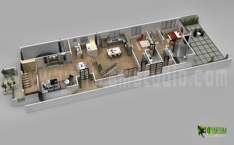 Diseño de planta 3D 8
