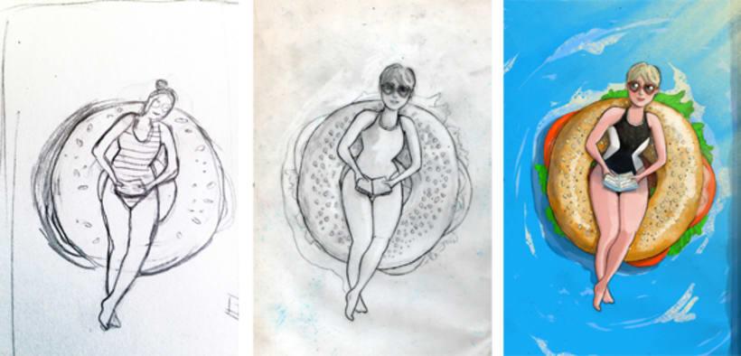 """Ilustraciones para """"BRUNCHEANDO""""  4"""