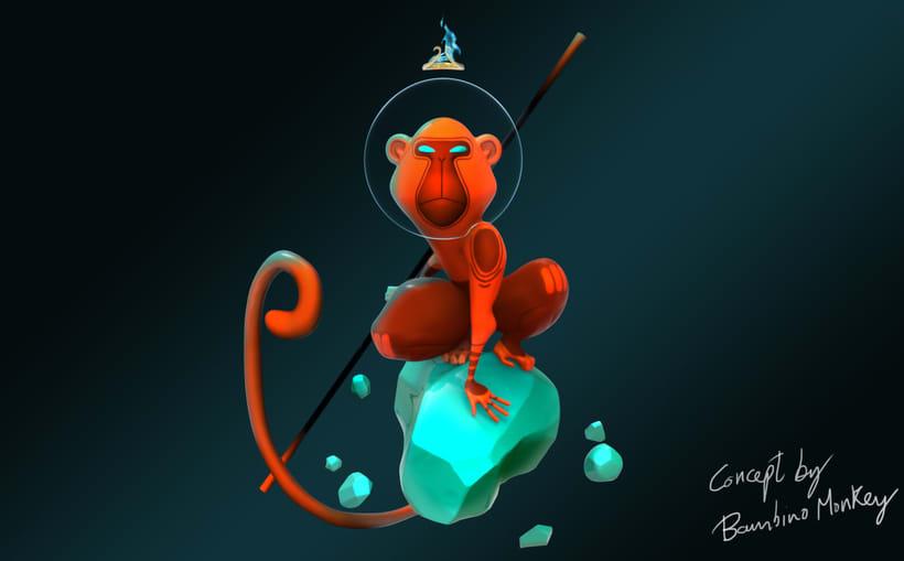 Character design based on illustrations of Bambino Monkey by David Almenara Troyano  0