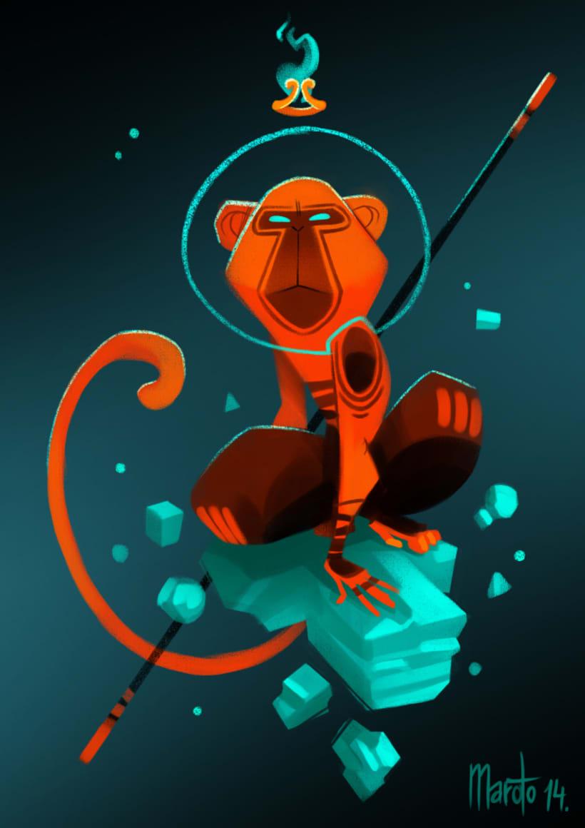 Character design based on illustrations of Bambino Monkey by David Almenara Troyano  2