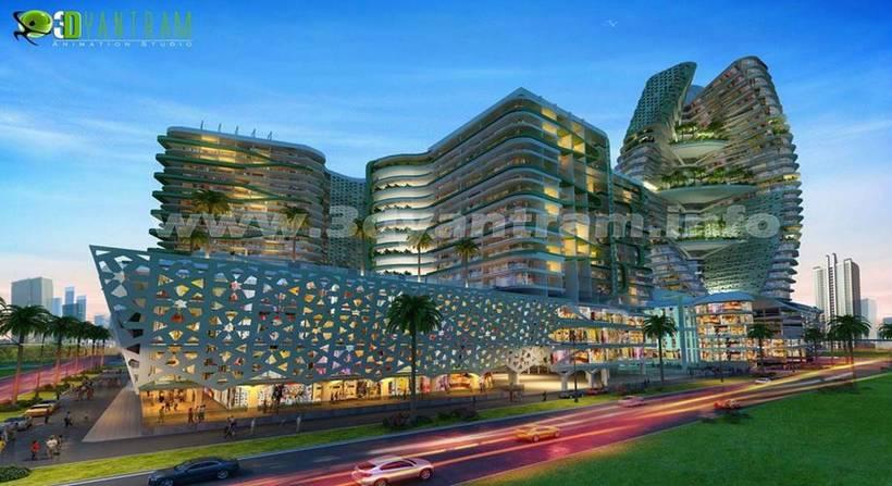 3D Arquitectónico del Exterior de 9
