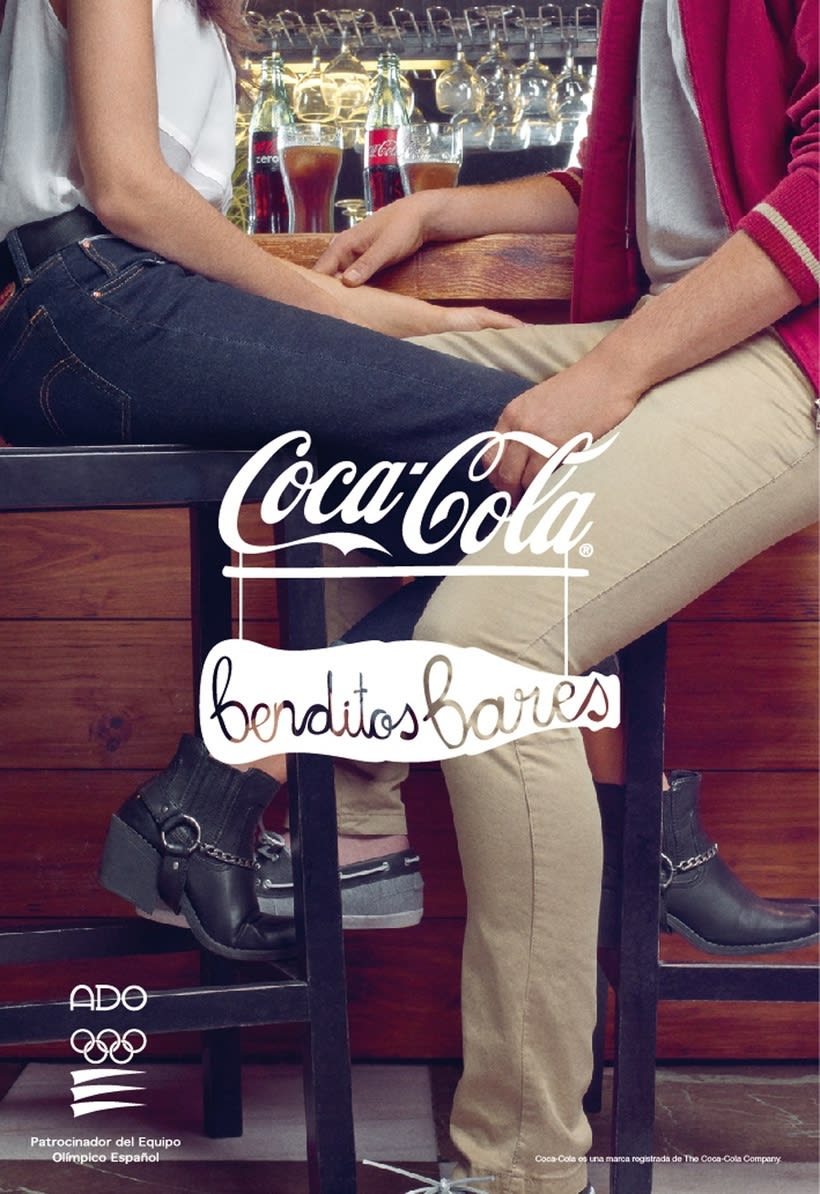 "Logotipo ""Benditos Bares"", Coca Cola, 2013 1"