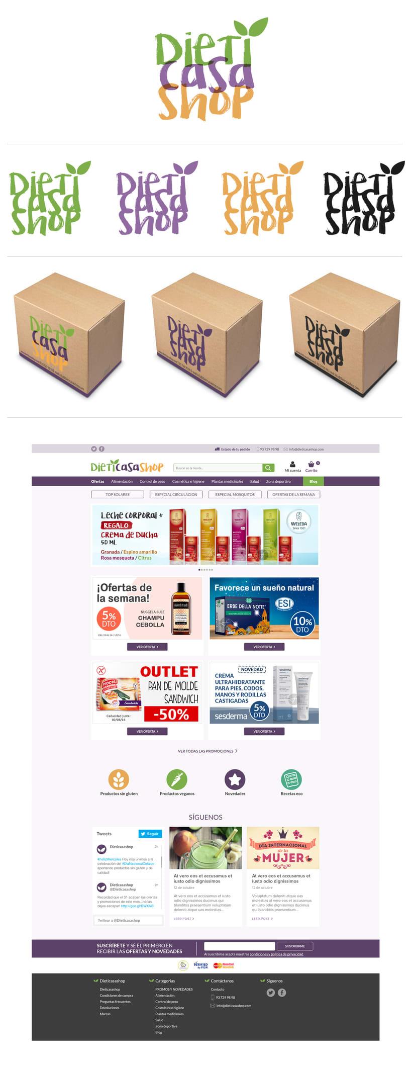 Diseño Logo y Web Dieticasashop -1