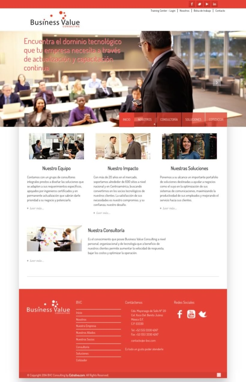 BVC Consulting – Website (México) - Wordpress -1