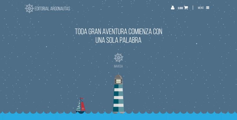 Editorial Argonautas - Diseño tienda online 1