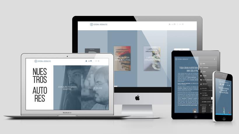 Editorial Argonautas - Diseño tienda online 3