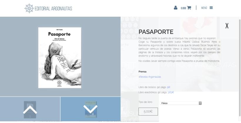 Editorial Argonautas - Diseño tienda online 6