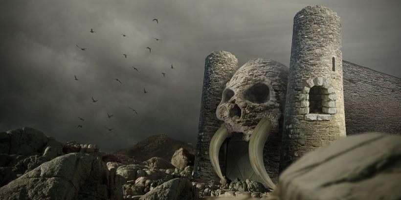 Fotocomposición: Grayskull Castle -1