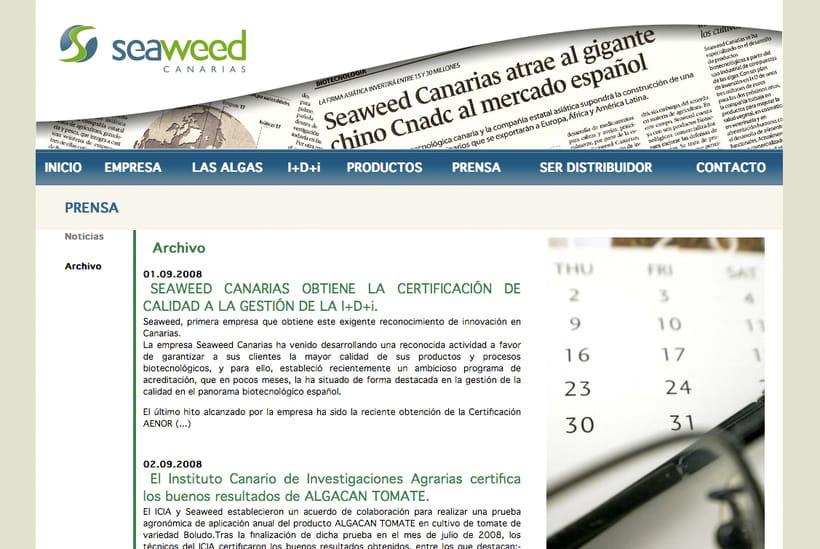 Website Seaweed Canarias 2
