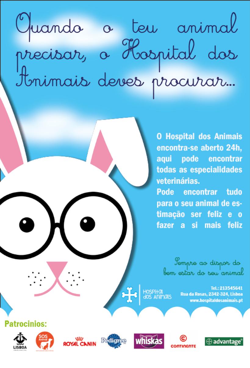 """Cartel de la publicidad """"Hospital dos Animais"""" 0"""