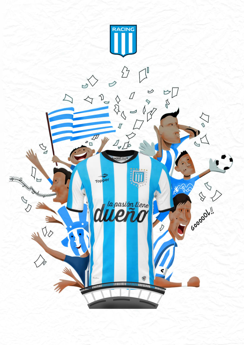 Camiseta Racing Club de Avellaneda 0