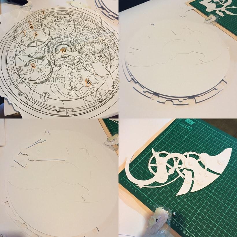 Clock engine / Papercut 7