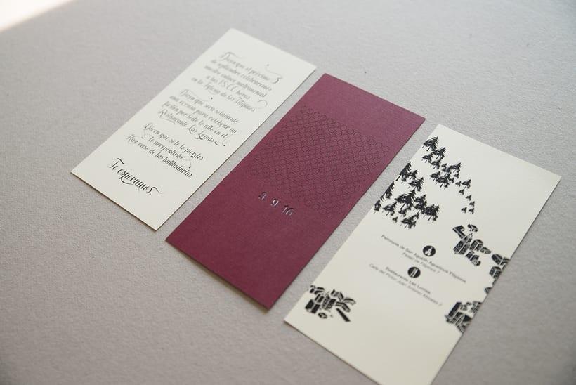 A+N Wedding / Invitation 2
