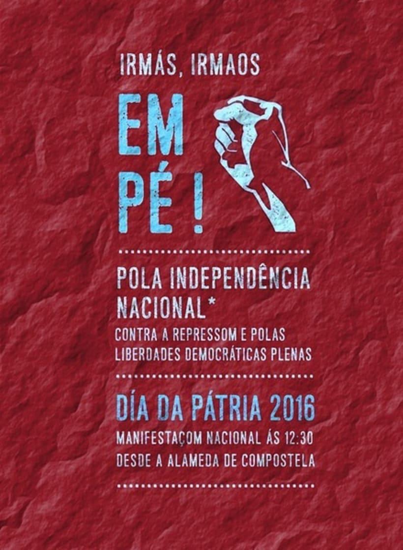 Campanha Dia da Pátria 2016 para Colectivo Independentistas Galegos 2