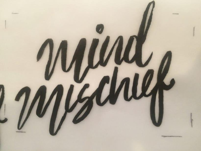 Mi Proyecto del curso: Los secretos dorados del lettering Mind Mischief 1
