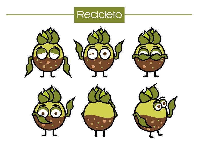 Personajes campaña reciclaje para niños 0