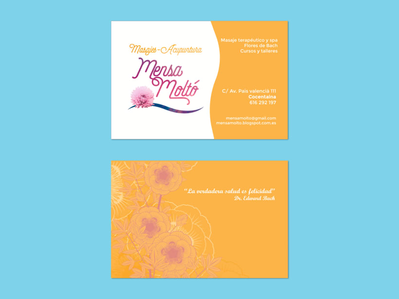 """Branding para """"Mensa Moltó"""" masajes y acupuntura 0"""