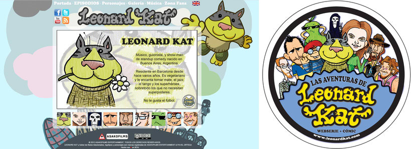 Creative Producer & Art Director en LAS AVENTURAS DE LEONARD KAT 16