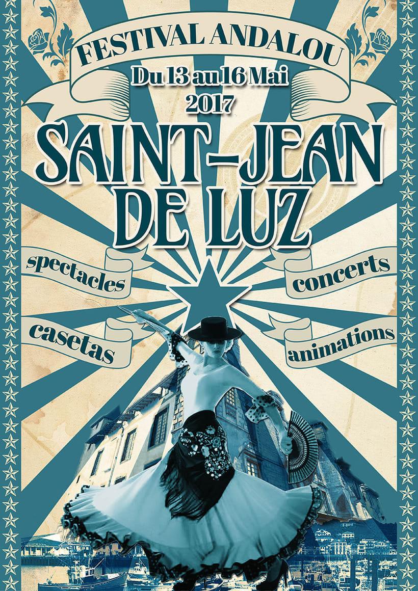 Cartel Festival Andaluz de San Juan De Luz (propuesta) -1