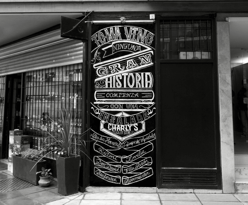 Chalkboard lettering 0