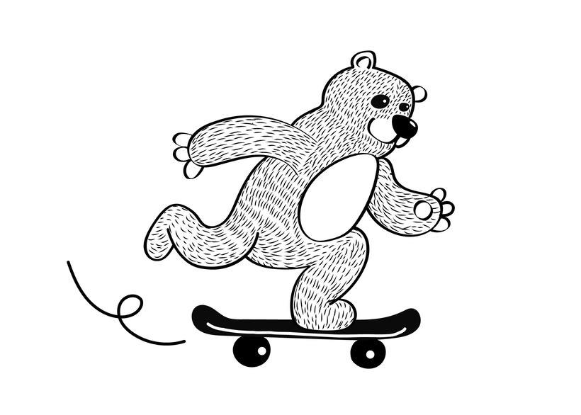 Skater Bear -1