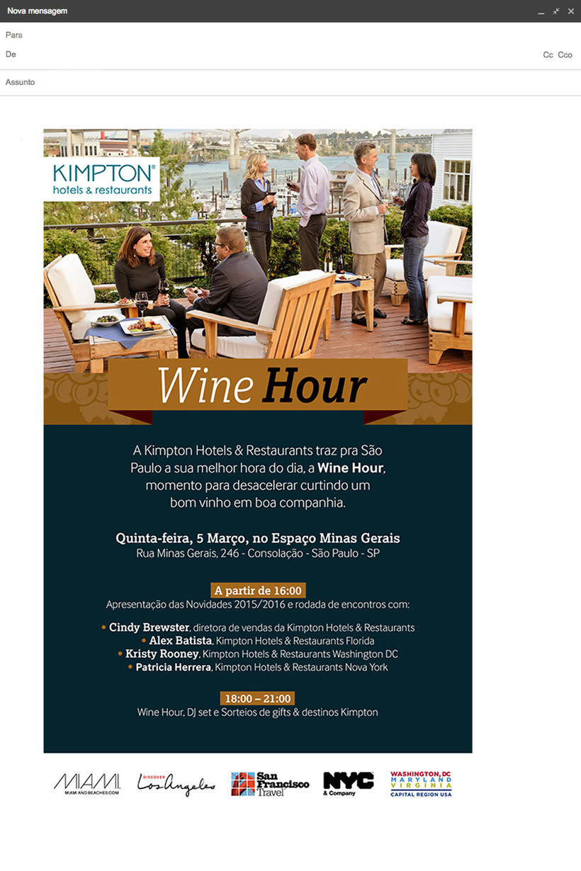 E-mail Marketing Kimpton Hotels & Restaurantes -1