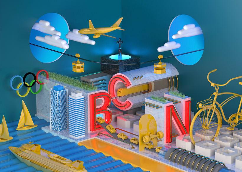 BCN - Mi Proyecto del curso: Dirección de Arte con Cinema 4D 0