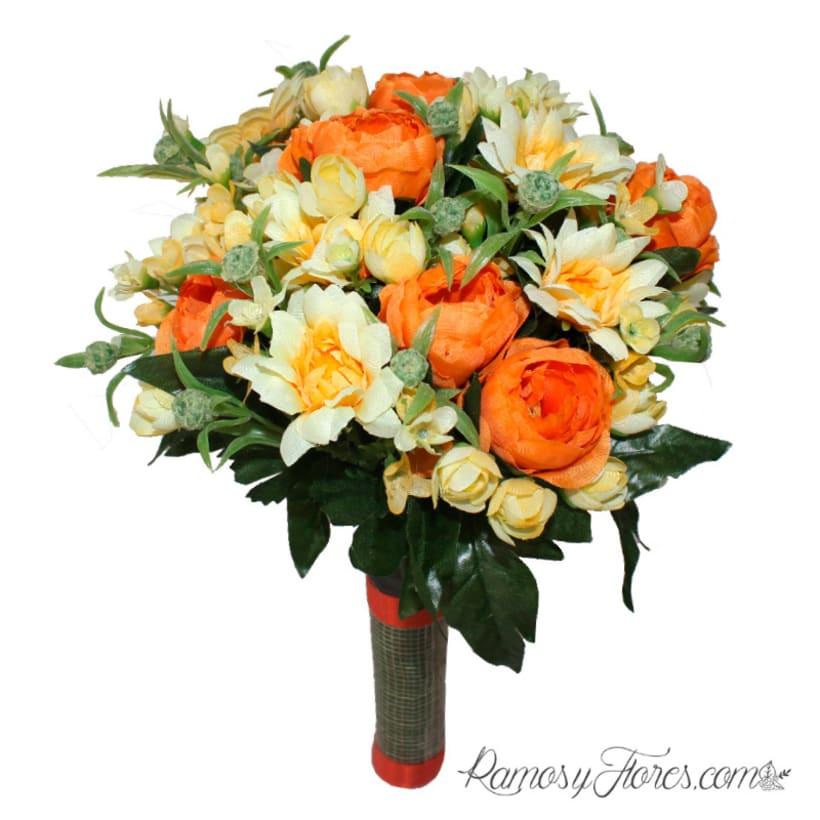 Creación de ramos de flores artificiales -1
