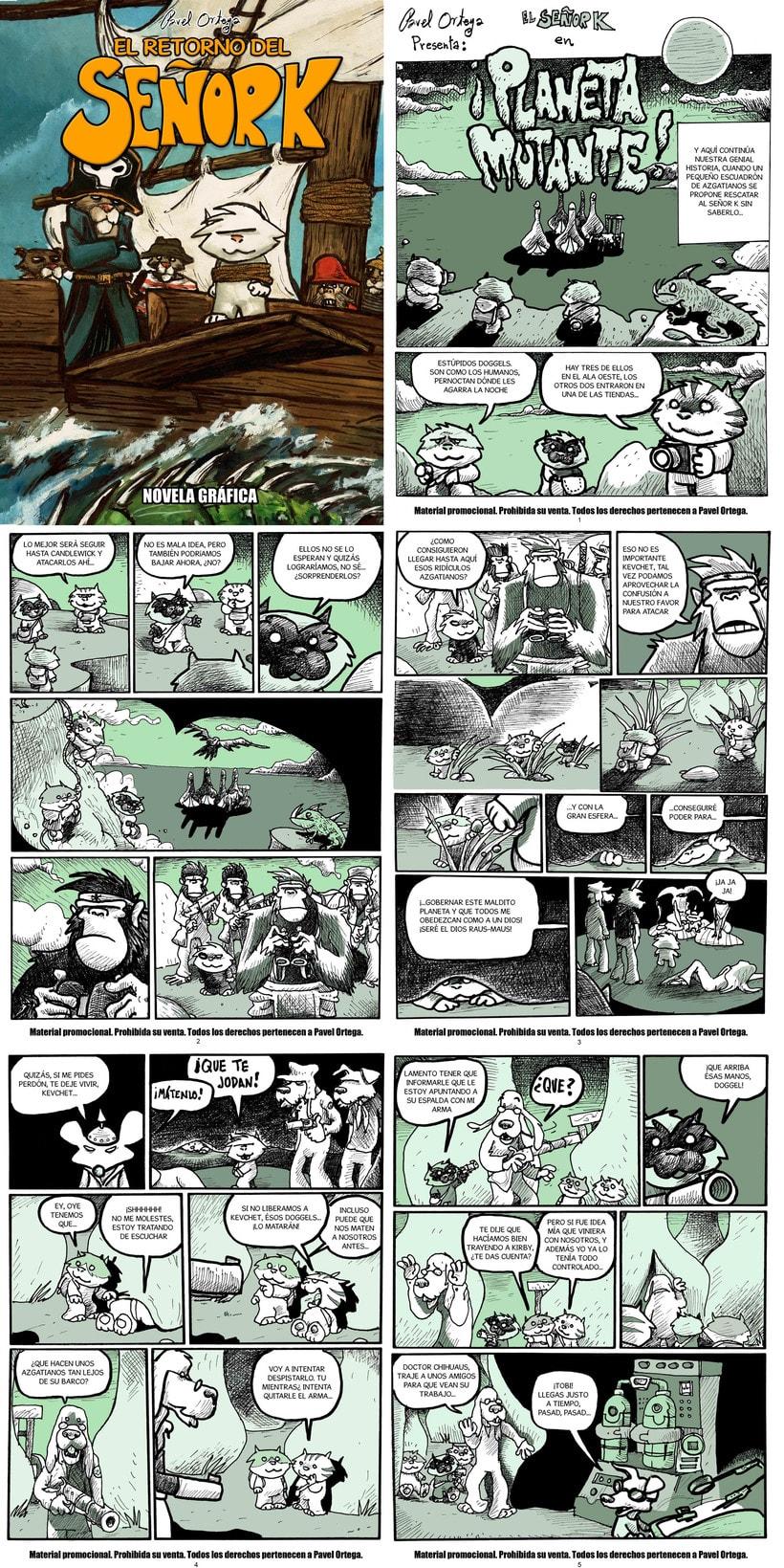 Maquetador y rotulista del cómic EL RETORNO DEL SEÑOR K 1