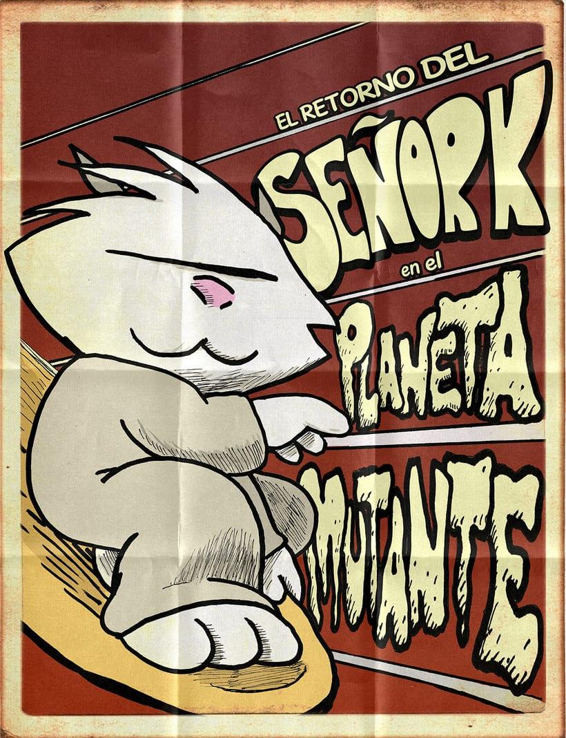 Maquetador y rotulista del cómic EL RETORNO DEL SEÑOR K 3