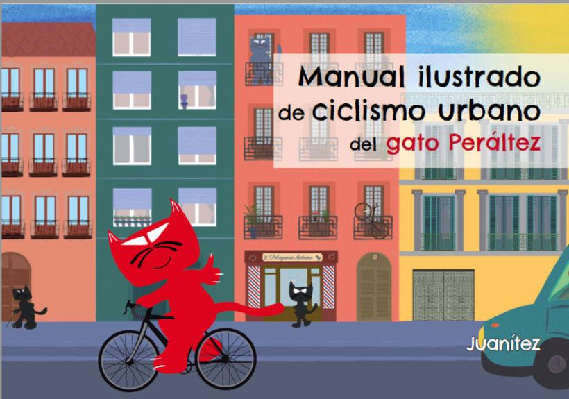 Manual ilustrado de ciclismo urbano del gato Peáltez 4