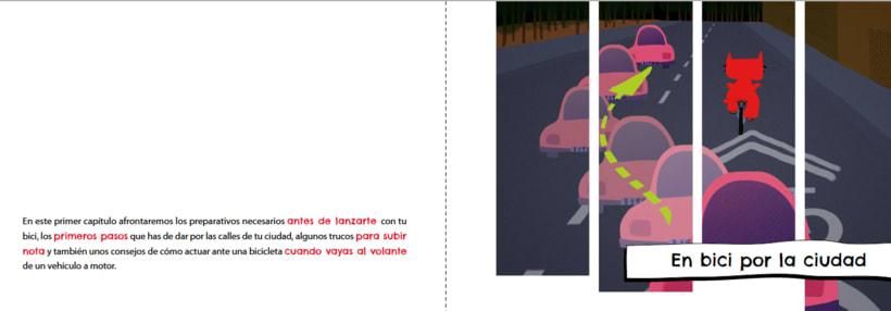 Manual ilustrado de ciclismo urbano del gato Peáltez 6