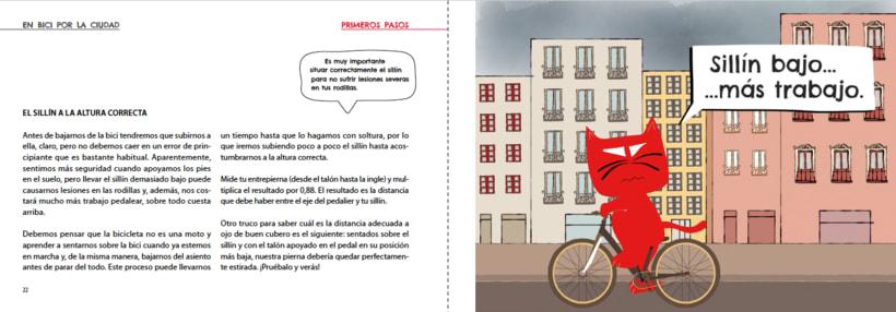 Manual ilustrado de ciclismo urbano del gato Peáltez 8