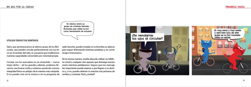 Manual ilustrado de ciclismo urbano del gato Peáltez 9